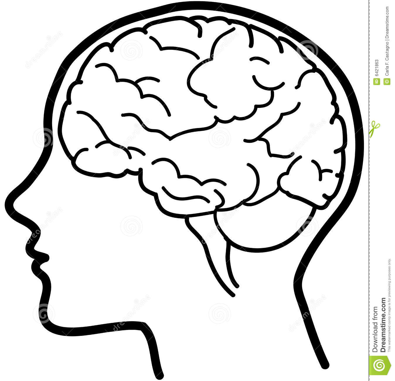 Outline drawing at getdrawings. Brain clipart