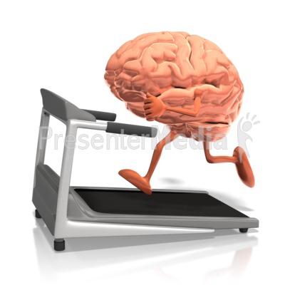 Brain clipart animated. Running on treadmill presentation