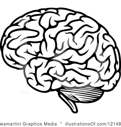 Brain clipart black and white. Best of transparent letters