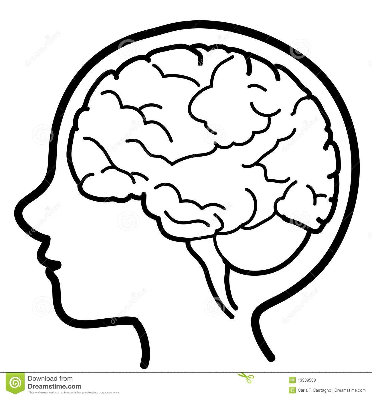 Brain clipart black and white. Letters thinking hd within