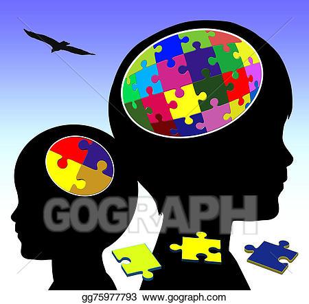 Stock illustration gg . Clipart brain brain development