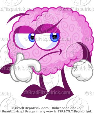 Brain clipart cartoon. A cute thinking clip