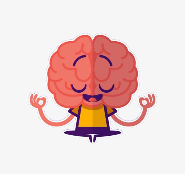 Brain clipart cartoon. Thinking creative png image