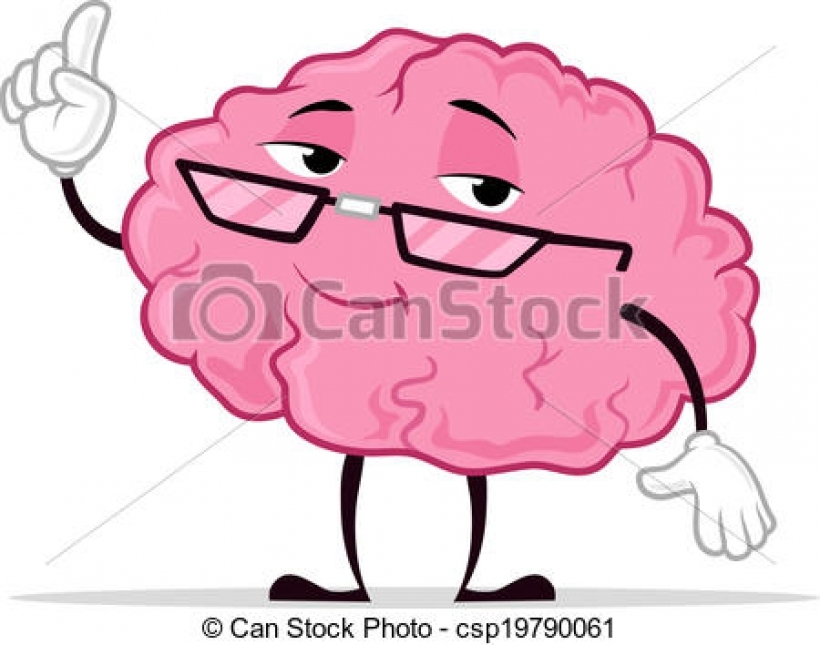 Brain clipart cartoon. Smart clipground clip art