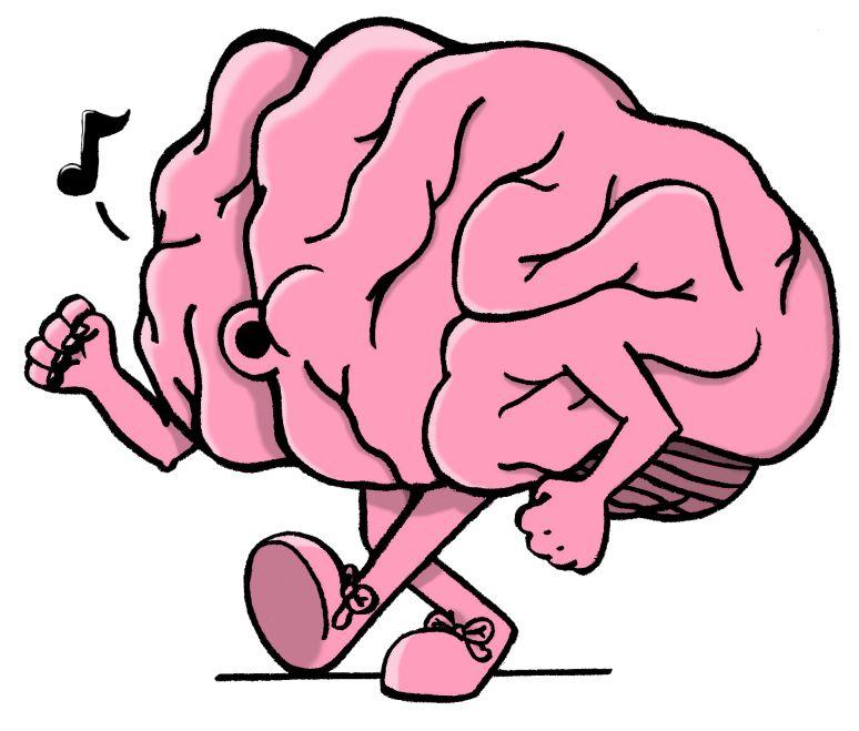 Simple library clip art. Brain clipart cartoon
