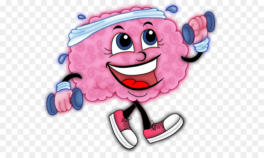 Training physical exercise fitness. Brain clipart cognitive