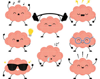 collection of high. Brain clipart cute