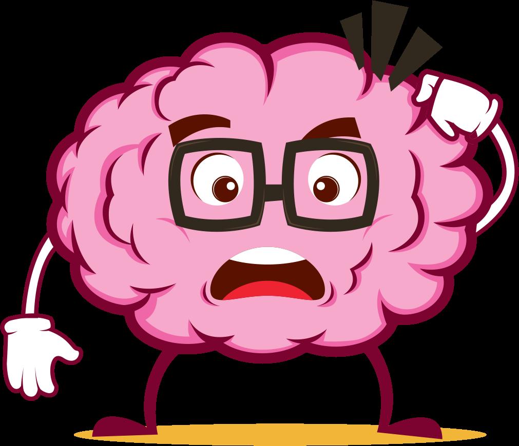Brain clipart emoji. Stickers by el mehdi