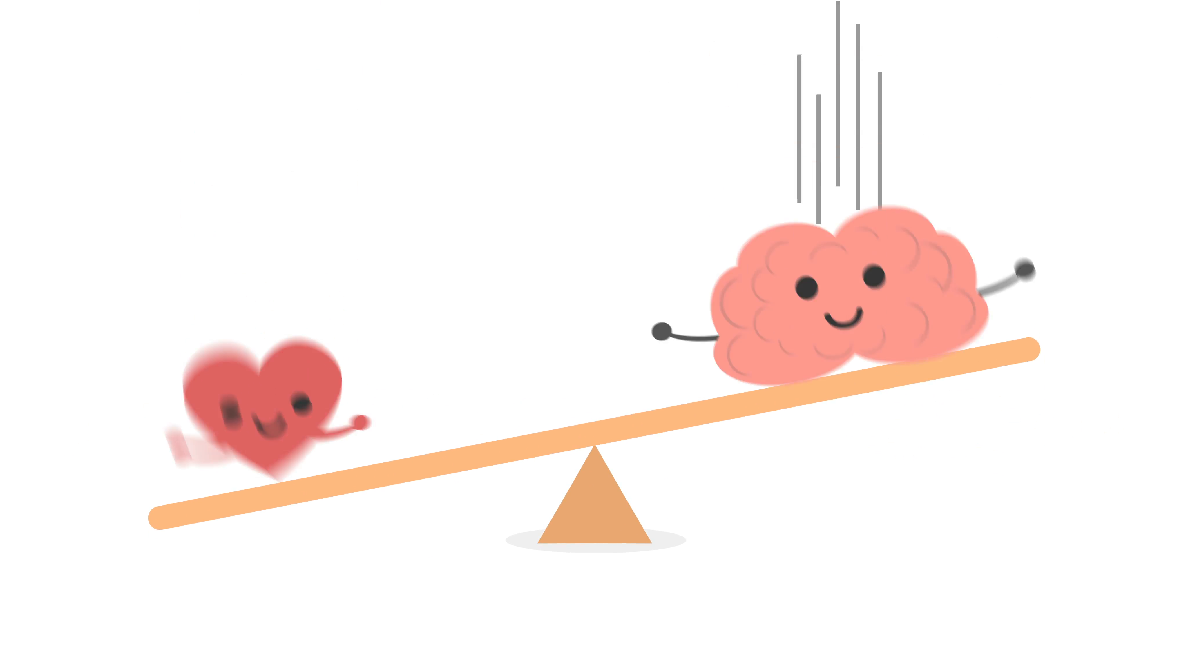 Balance between and heart. Brain clipart emotion
