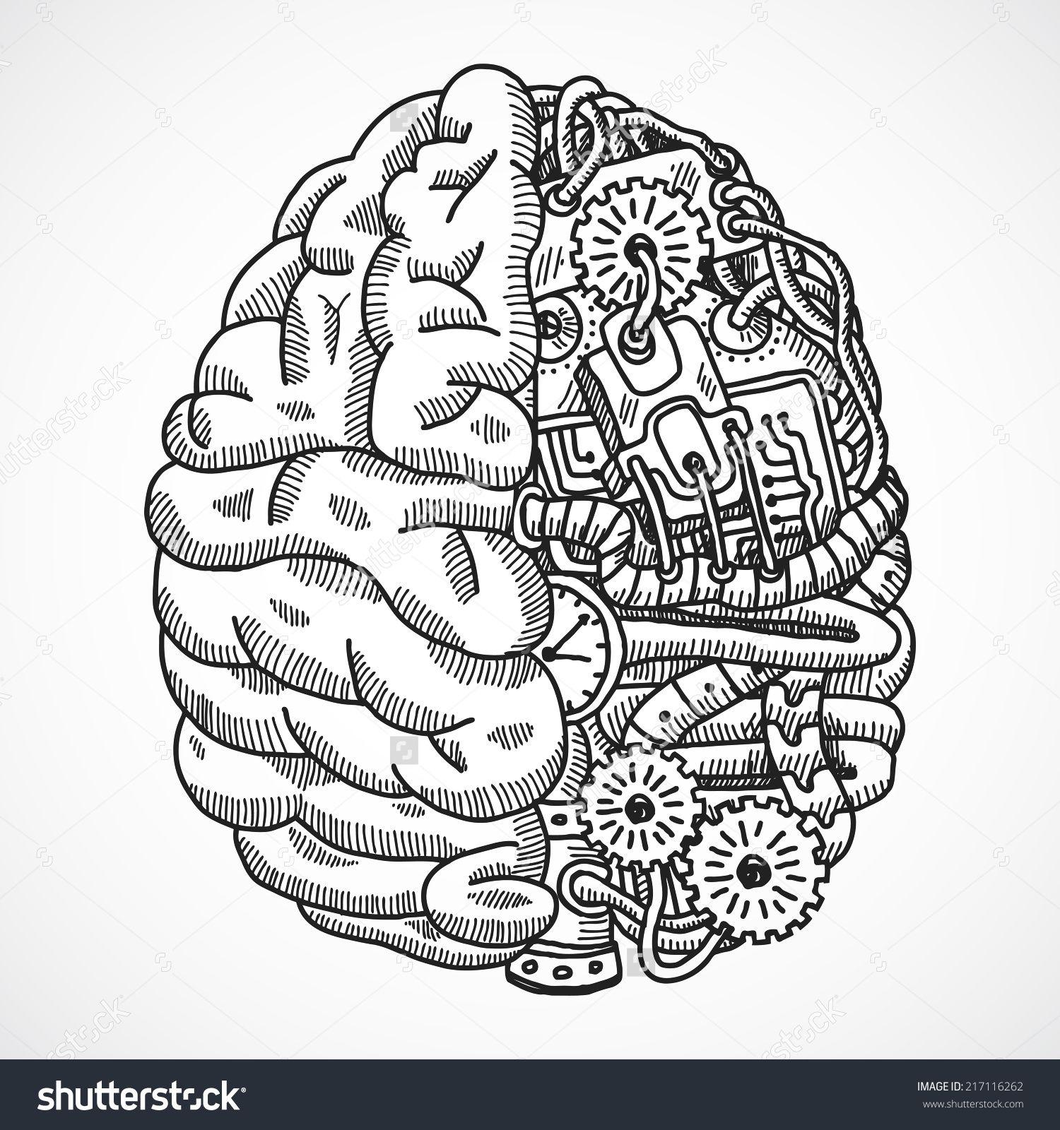 Brain clipart engineering. Human as processing machine