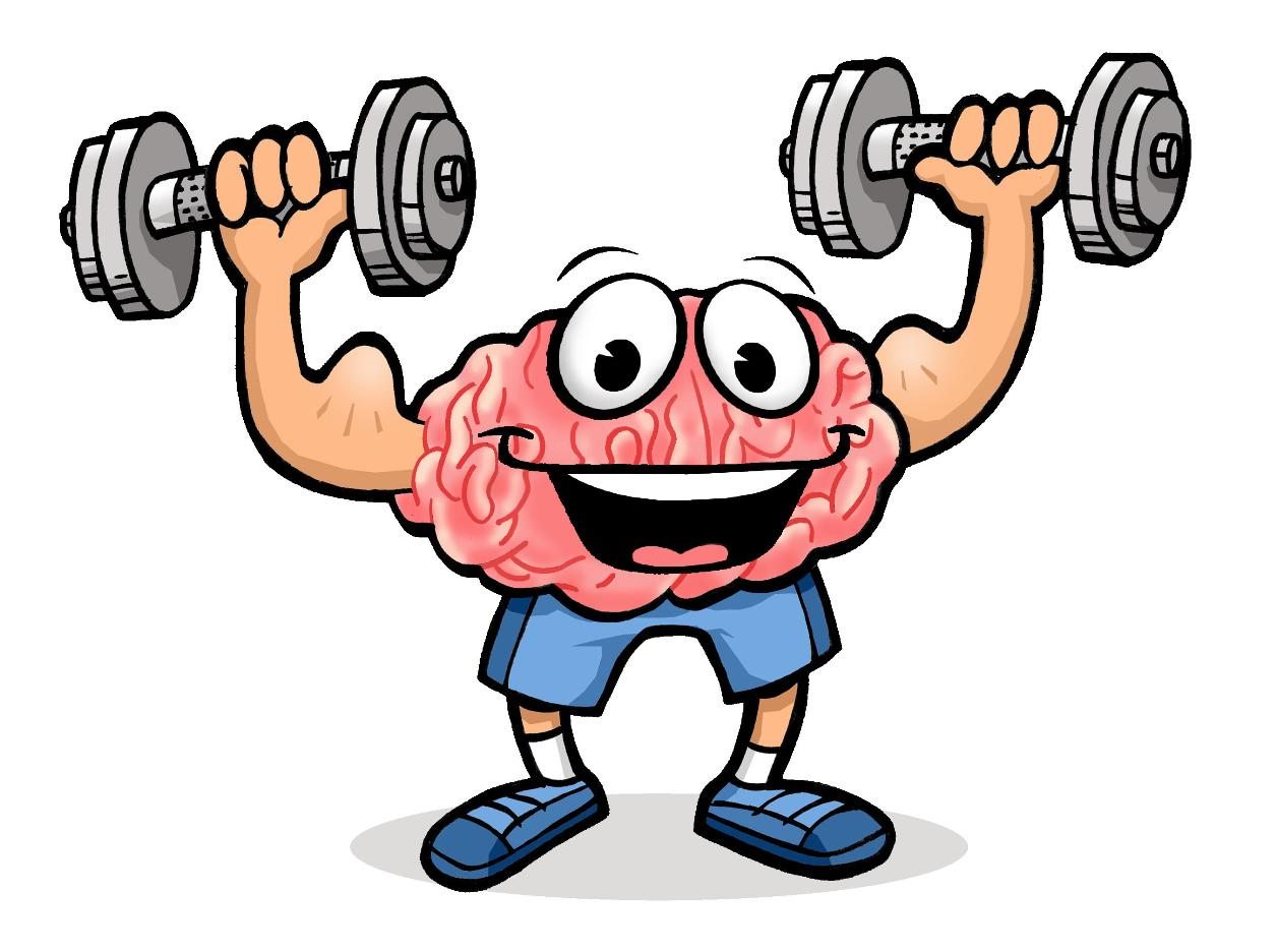 Exercise clipart strong. Brains happy brain crying