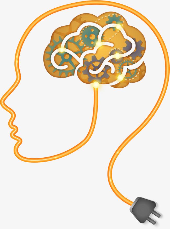 The thinking creative ability. Brain clipart imagination