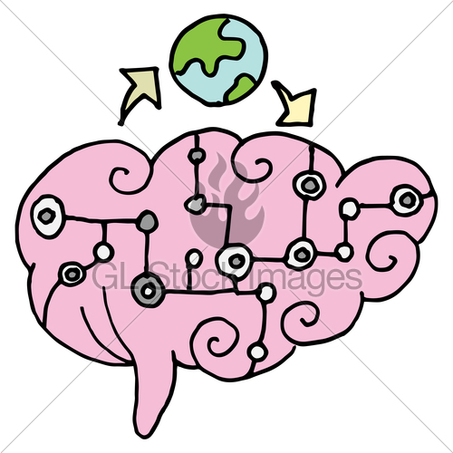Brain clipart intelligence. Artificial gl stock images