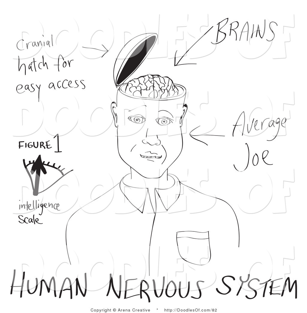 Brain clipart intelligence. Brains open pencil and
