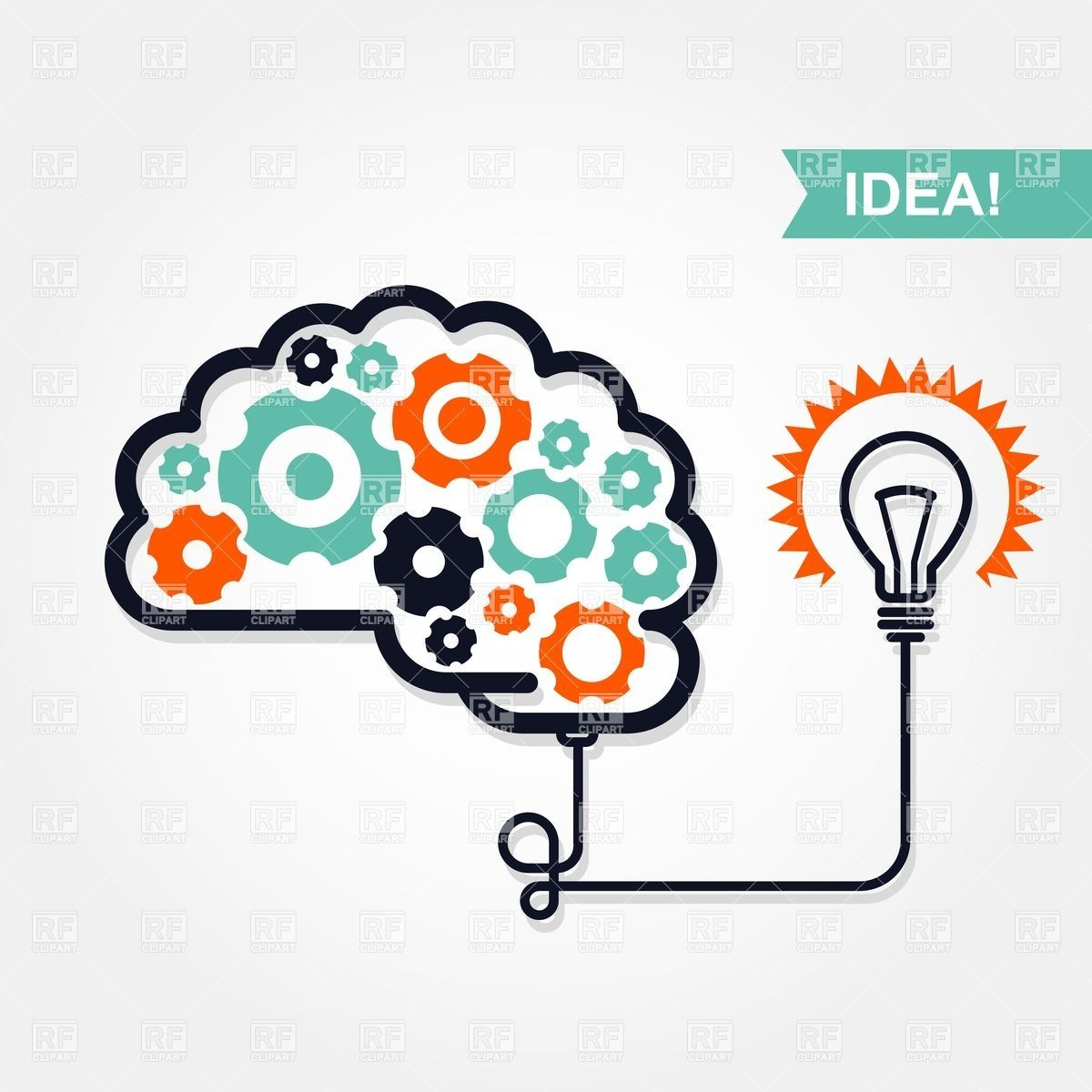 Business or invention icon. Gears clipart idea