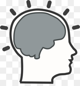 Black and white clip. Brain clipart psychology