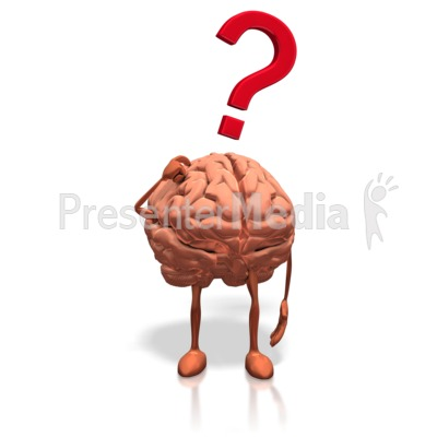 Brain clipart question. Posing presentation great for