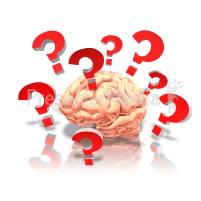 Clipart brain question. With questions presentation great