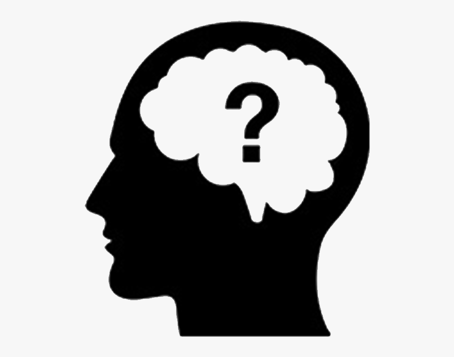 Thought mark png . Clipart brain question