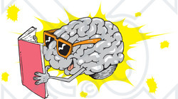 Illustration of a smart. Brain clipart reading