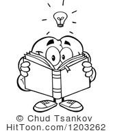 Royalty free stock illustrations. Brain clipart reading