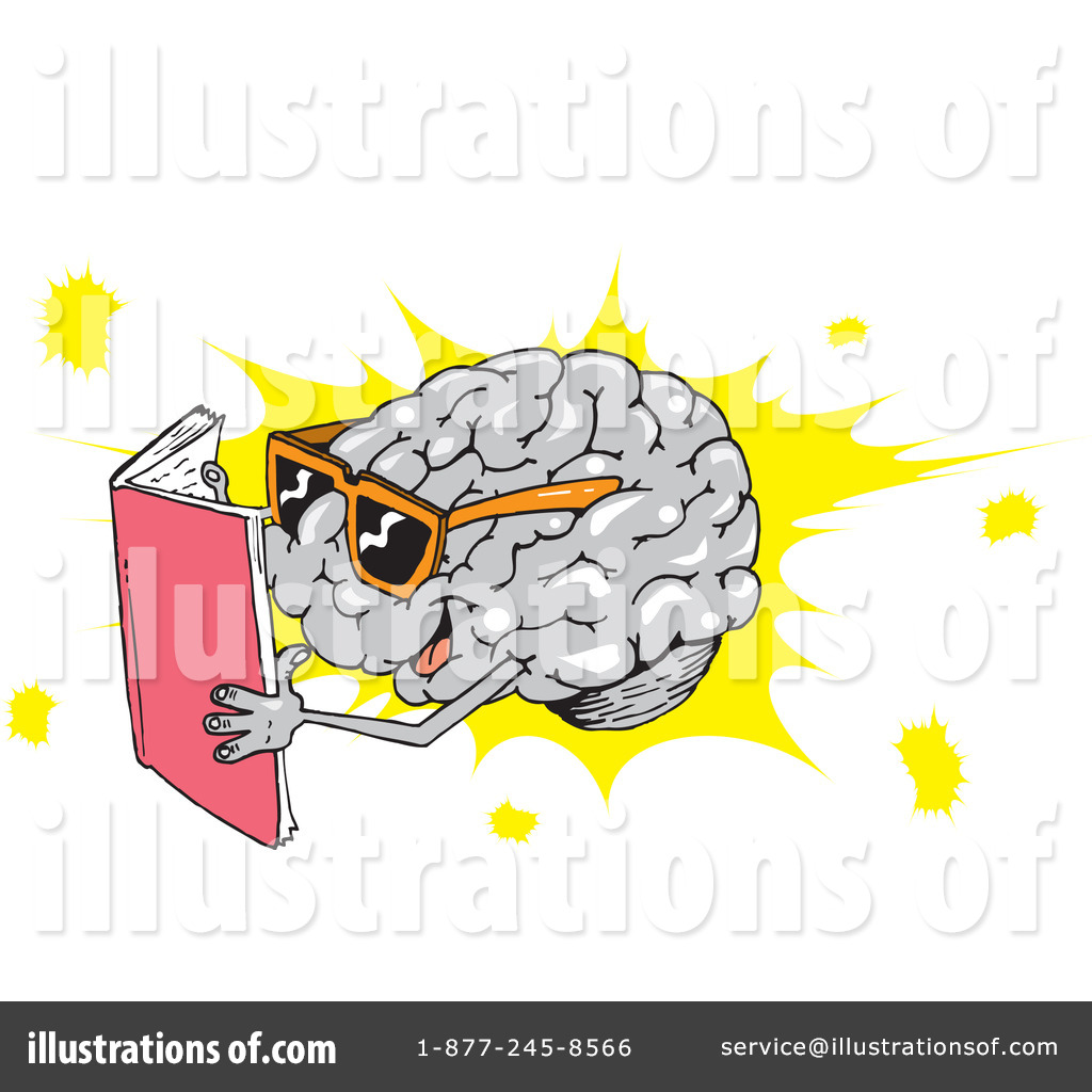 Illustration by dennis holmes. Brain clipart reading