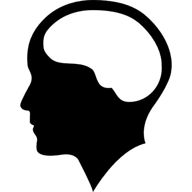 Brain clipart silhouette. Human head at getdrawings