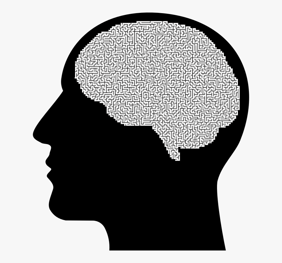 Maze clipart brain. Man medium image png