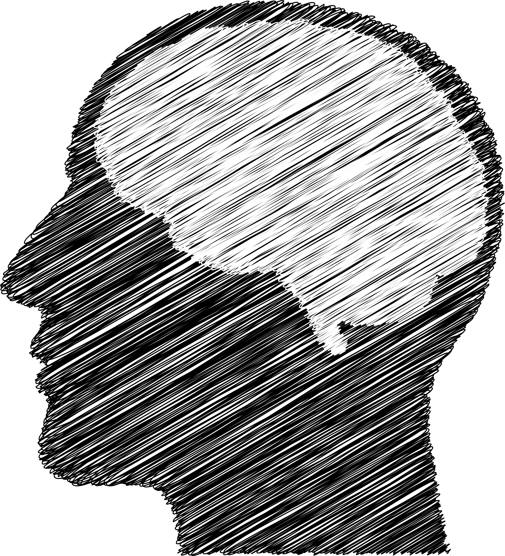 Brain clipart silhouette. Sketched man big image