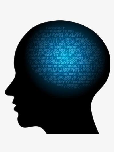 Brain clipart silhouette. Of the human creative