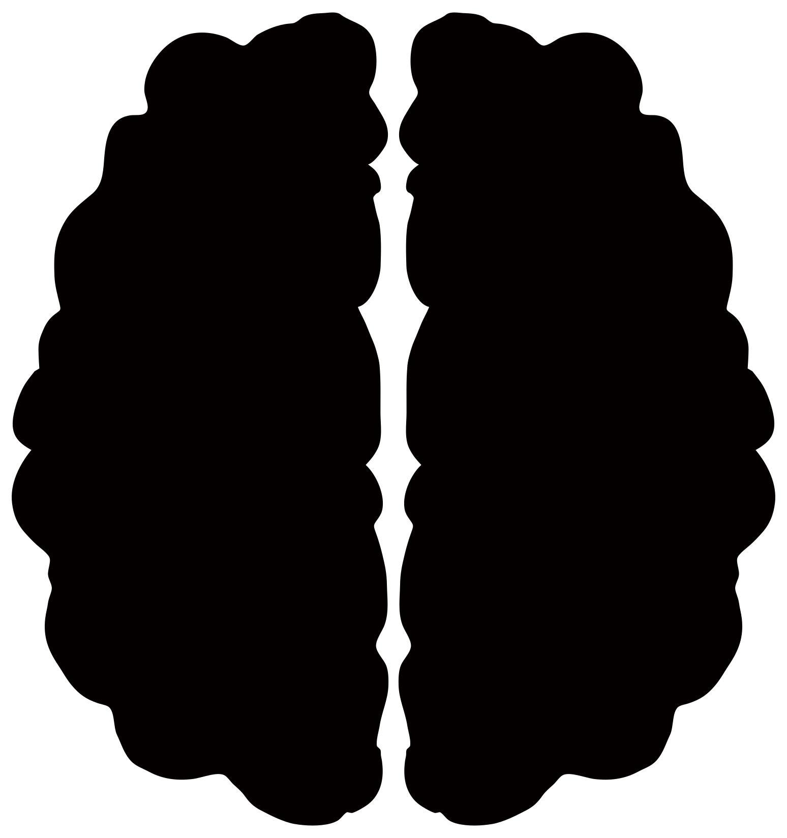 Design droide . Brain clipart silhouette