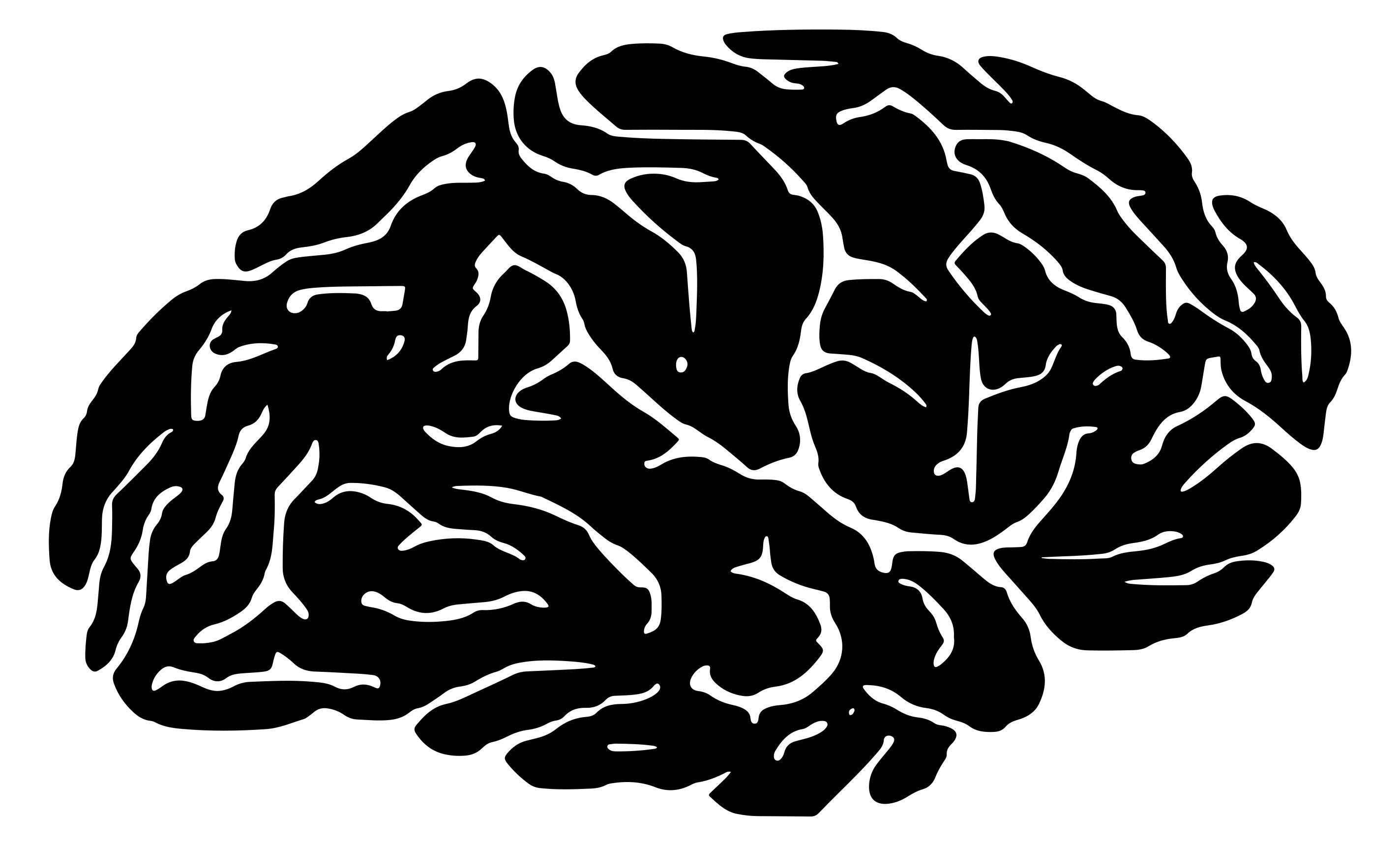 Brain clipart silhouette. Design droide download