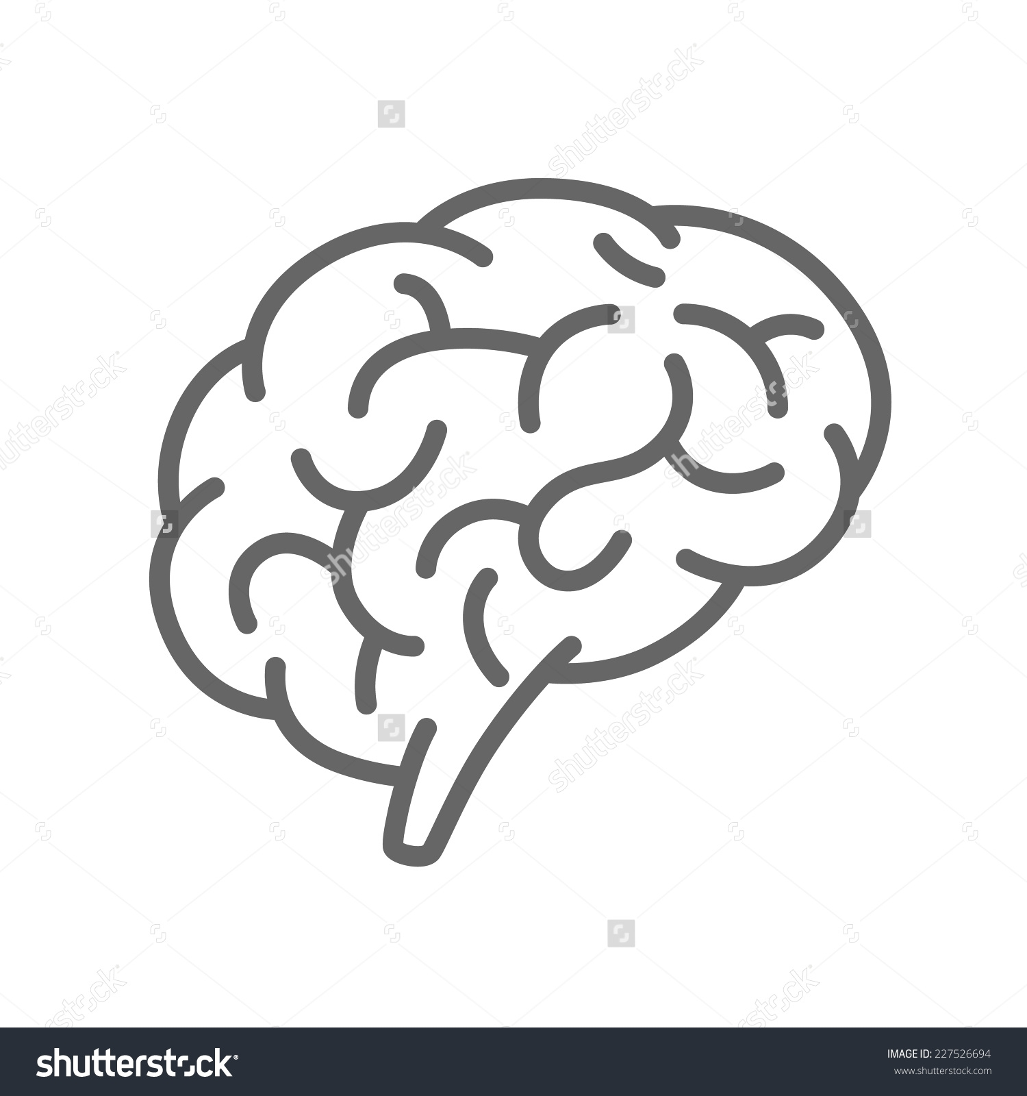 Brain clipart simple. Pencil and in color