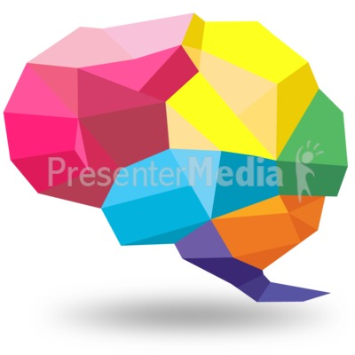 Brain clipart symbol. Creative shaped signs and
