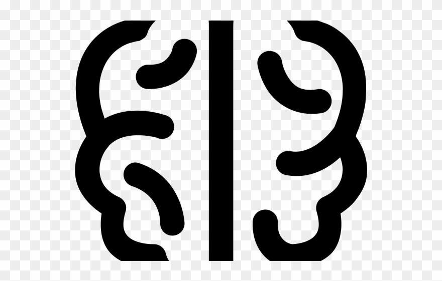 Doodle black logo png. Brain clipart symbol
