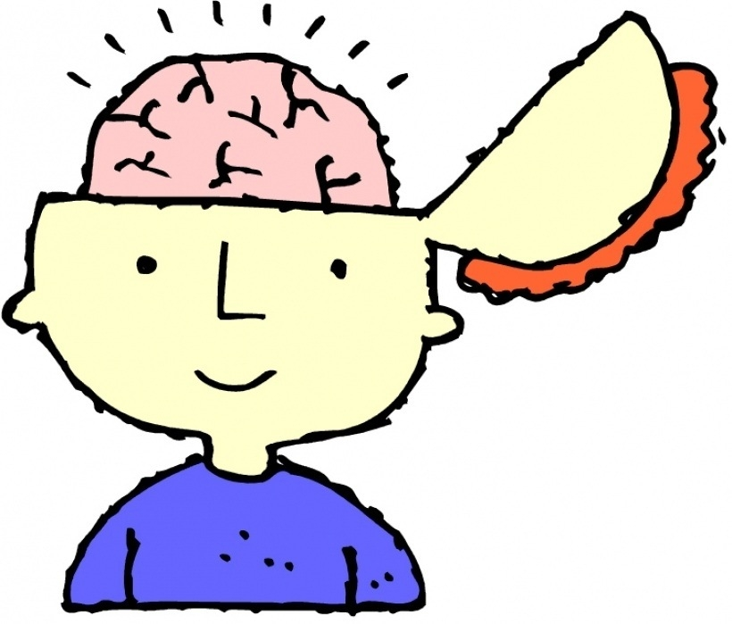 Brain clipart thinking. For kids letters inside