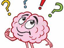 Kid for kids christmas. Brain clipart thinking