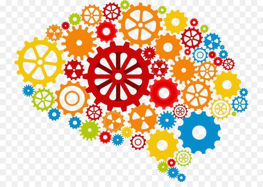 Blue project clip art. Brain clipart thinking