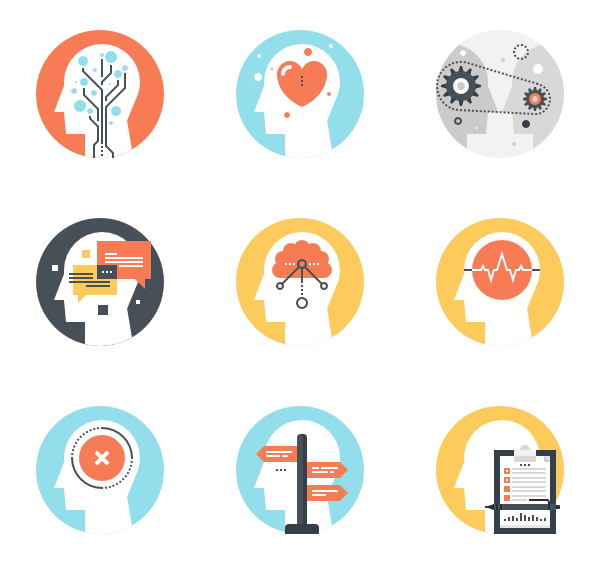 Brain vector png. Icons free thinking and