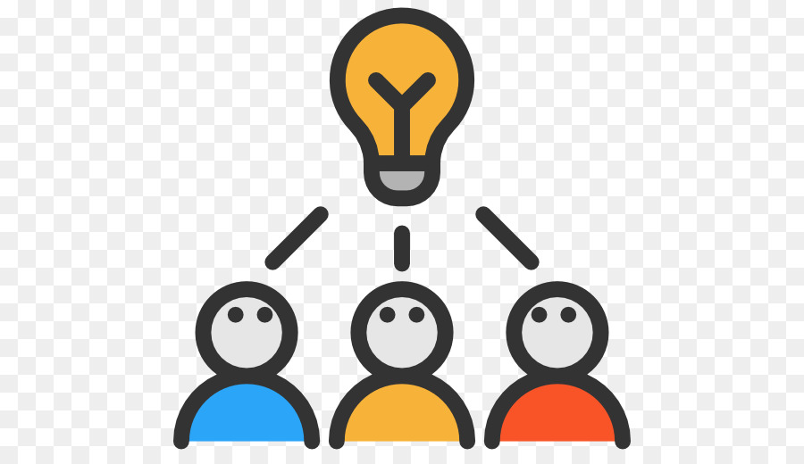 Communication icon yellow text. Brainstorm clipart