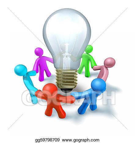 Brainstorm clipart. Group stock illustration gg