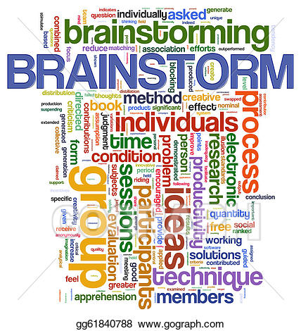 Stock illustrations word tags. Brainstorm clipart
