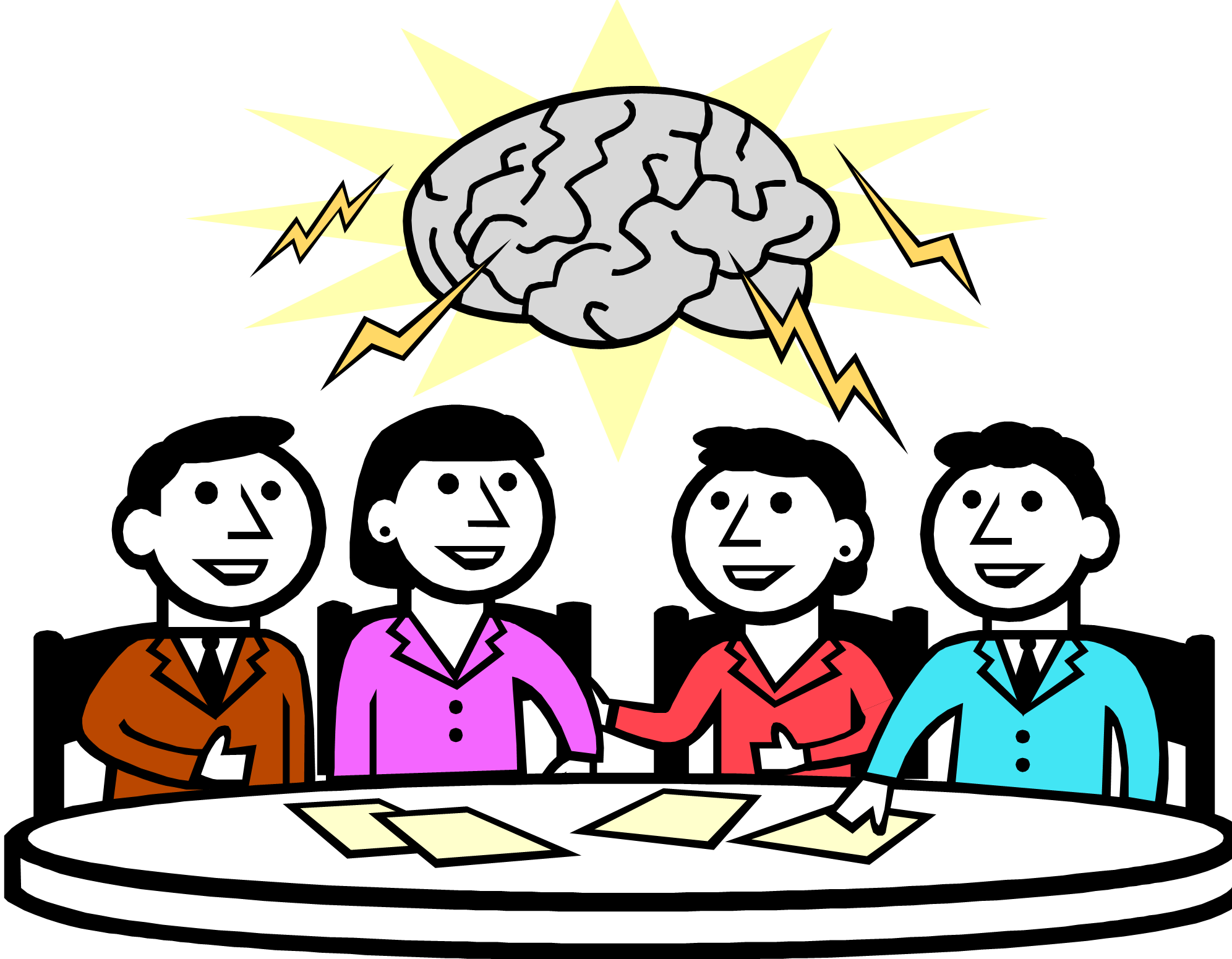 Free brainstorming session cliparts. Brainstorm clipart