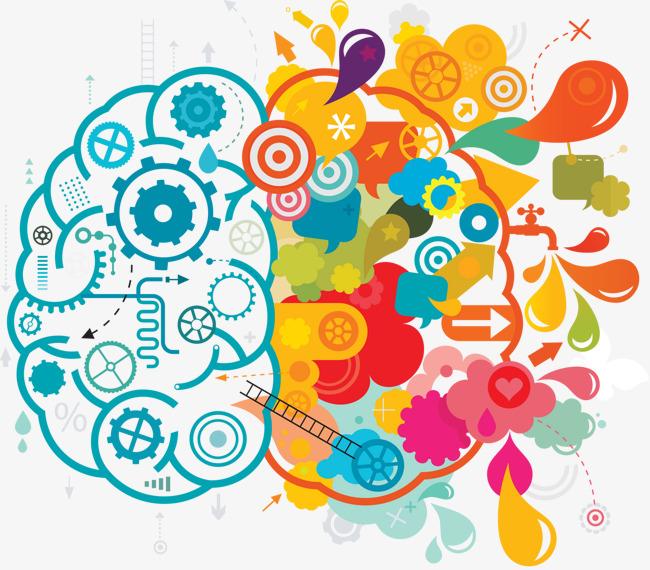 Brainstorm clipart brain. Blue color creative brainstorming