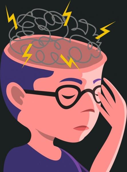 Brainstorming concept thunder head. Brainstorm clipart brain