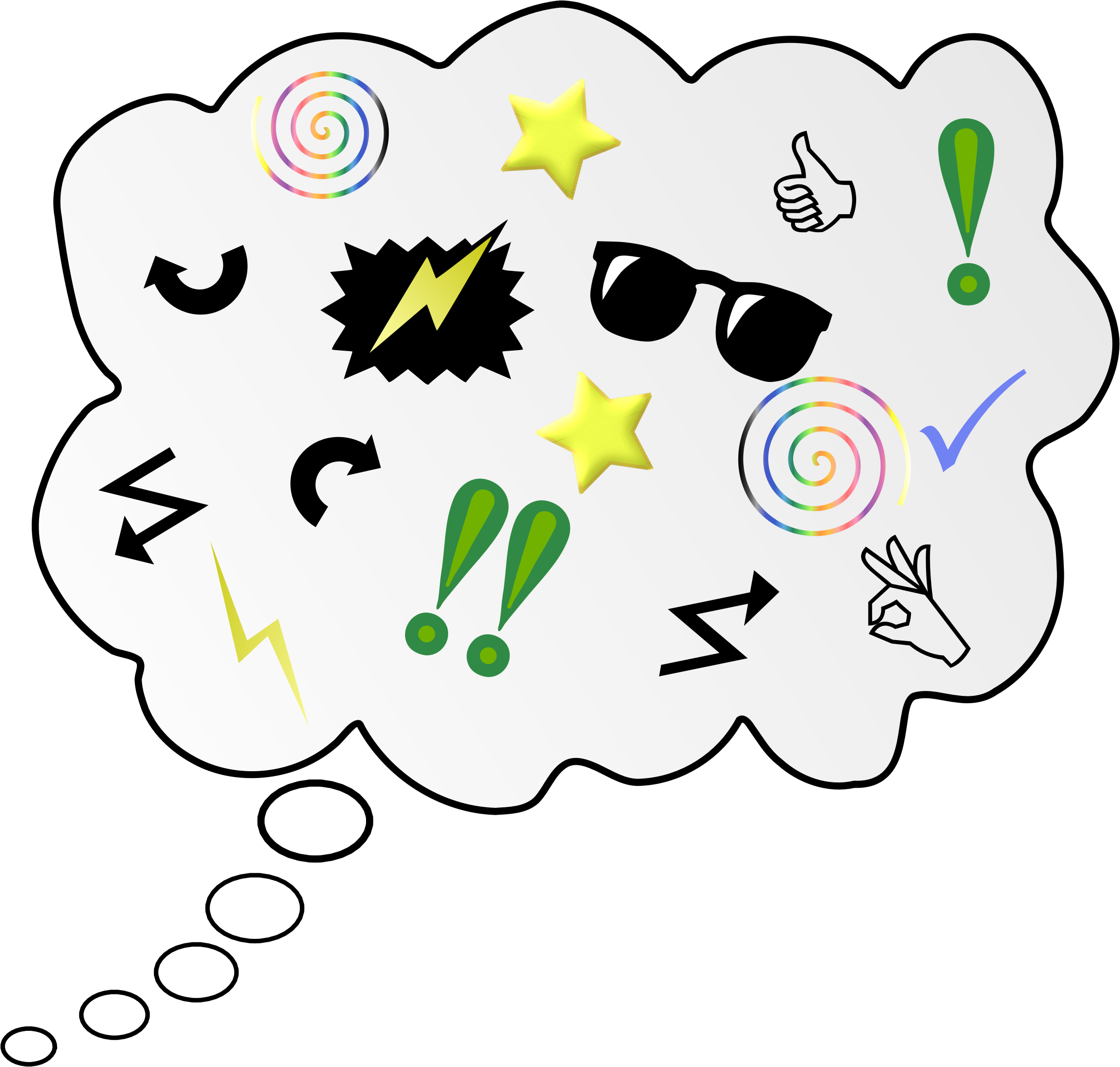 Thoughts clipart brain storm. Brainstorm big image png