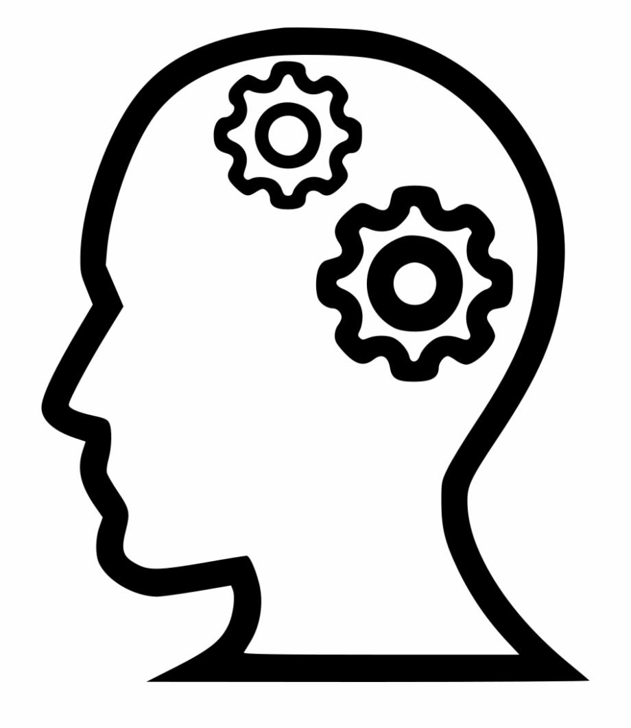 Brainstorm clipart icon. Png file svg brainstorming