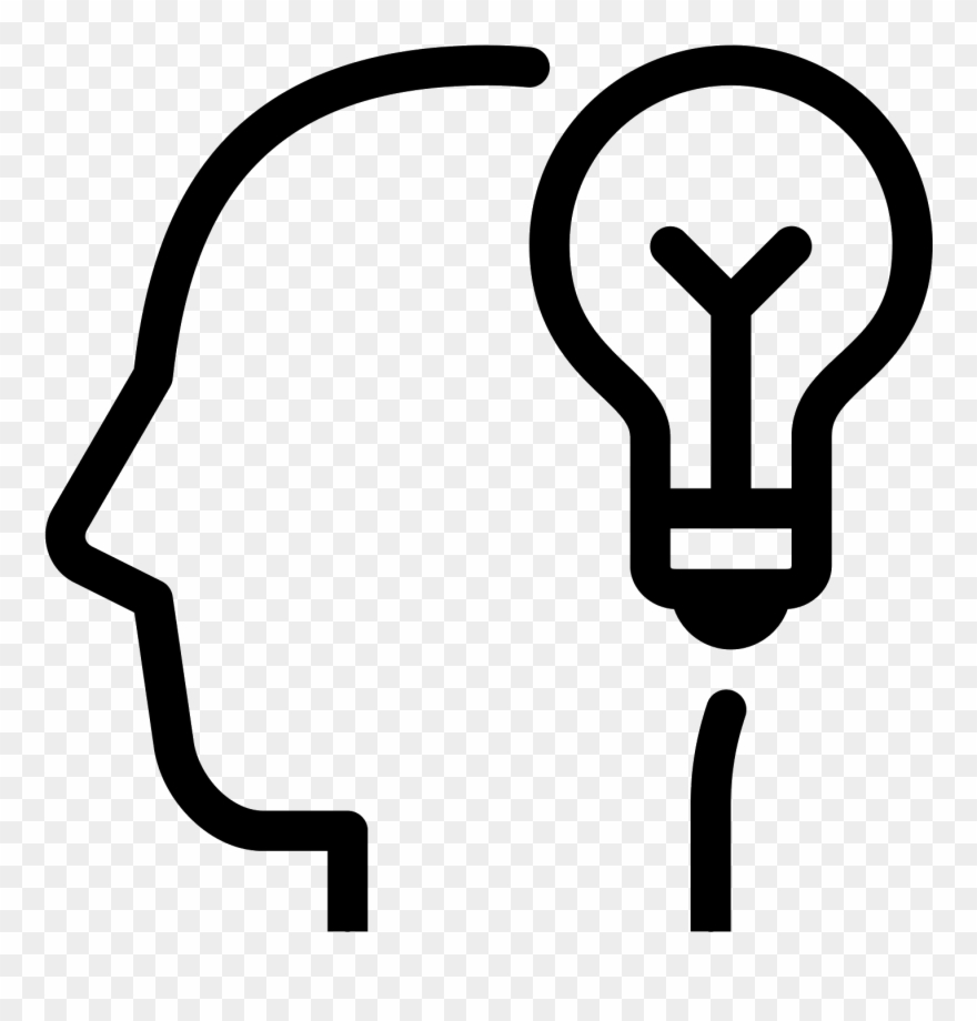 Brainstorm clipart icon. Skill