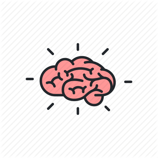 Brainstorm clipart icon.  business metaphor filled