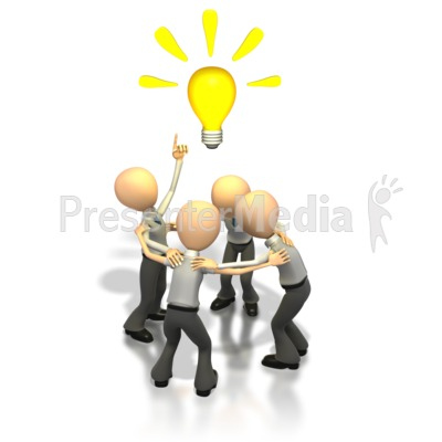 Brainstorming business and finance. Brainstorm clipart idea